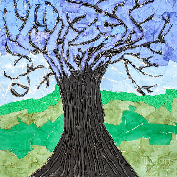 Branch Mixed Media - The Lonely Tree by Amanda Elwell