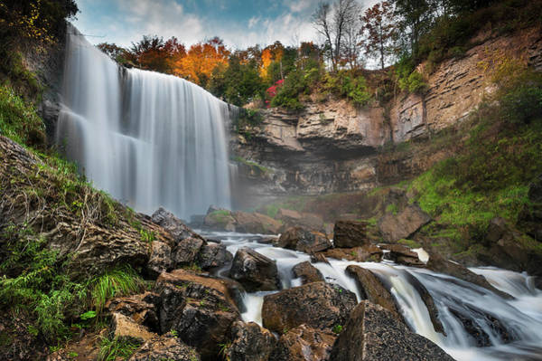 Wall Art - Photograph - The Long Exposure Of Webster Falls by Naibank
