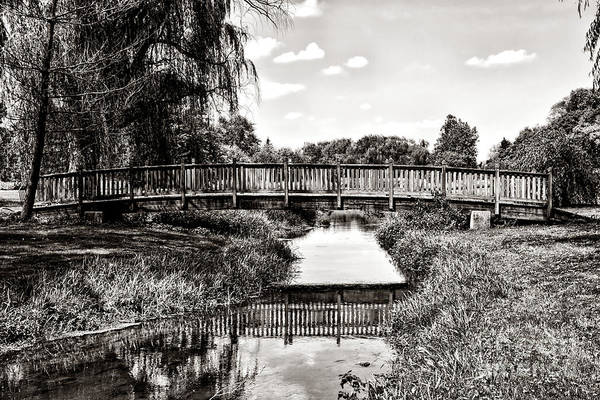 Span Wall Art - Photograph - The Long Footbridge by Olivier Le Queinec