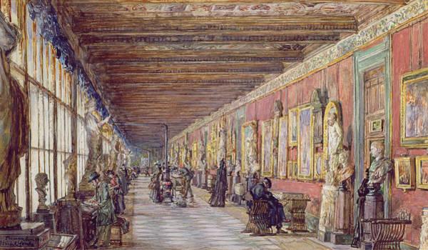 Wall Art - Painting - The Long Gallery, The Uffizi by English School