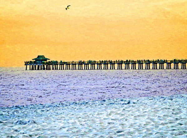 Art For Sale Online Painting - The Long Pier - Art By Sharon Cummings by Sharon Cummings