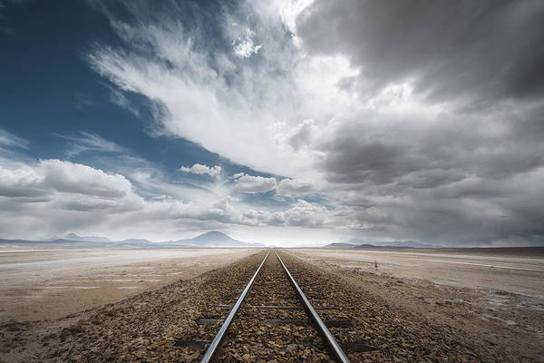Railroads Photograph - The Long Road by Rostovskiy Anton