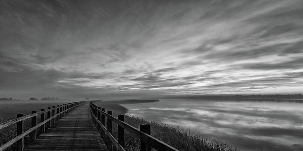 Wall Art - Photograph - The Long Wooden Footbridge. Dark Version. by Leif L?ndal