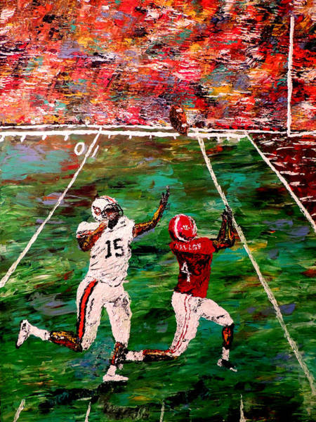Wall Art - Painting - The Longest Yard - Alabama Vs Auburn Football by Mark Moore