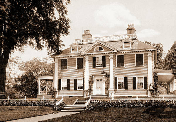 Haunted House Drawing - The Longfellow House, Cambridge, Longfellow, Henry by Litz Collection
