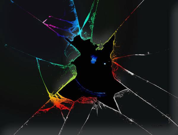 Broken Glass Digital Art - The Looking Glass- by Robert Orinski