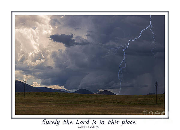 Electric Peak Wall Art - Photograph - The Lord Is In This Place by Janice Pariza