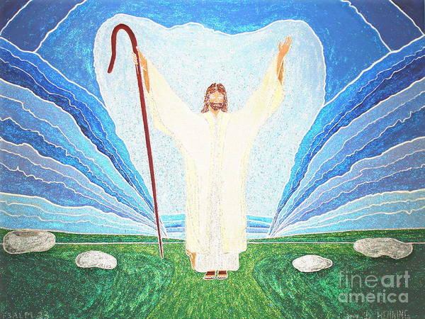 Wall Art - Painting - The Lord Is My Shepherd Eee011 by Daniel Henning