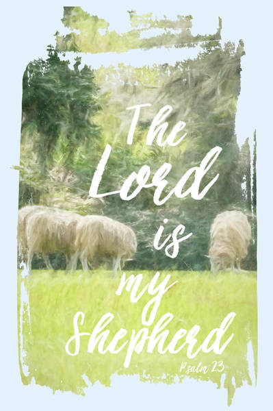 Wall Art - Painting - The Lord Is My Shepherd by Ramona Murdock