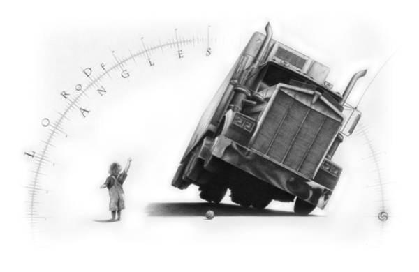 Semi Truck Drawing - The Lord Of Angles by Vincent Jimenez