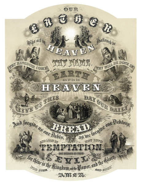Wall Art - Photograph - The Lords Prayer - 1876 by Daniel Hagerman