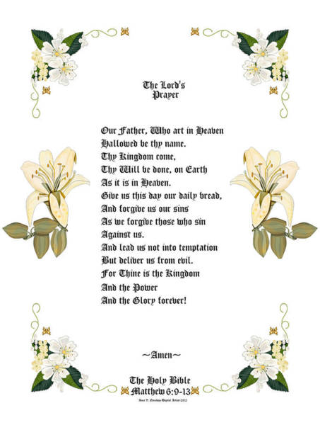 Wall Art - Painting - The Lords Prayer by Anne Norskog