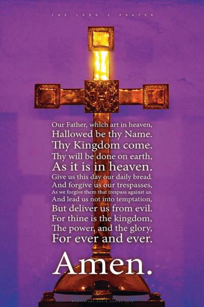 Photograph - The Lord's Prayer by David Davies