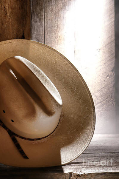 Cowboy Hat Photograph - The Lost Hat by Olivier Le Queinec