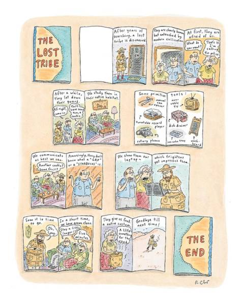 Tribe Drawing - 'the Lost Tribe' by Roz Chast