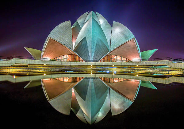 Worship Wall Art - Photograph - The Lotus Temple by Jiti Chadha