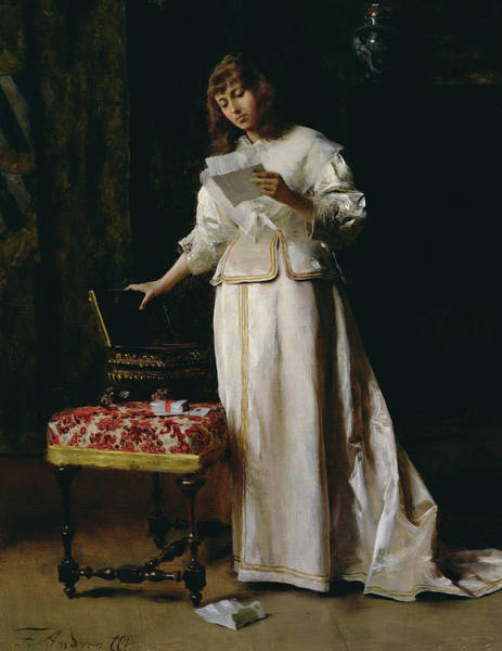 Painting - The Love Letter  by Federigo Andreotti