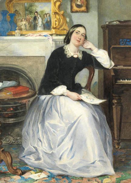 Walkers Painting - The Love Token by Frederick Walker