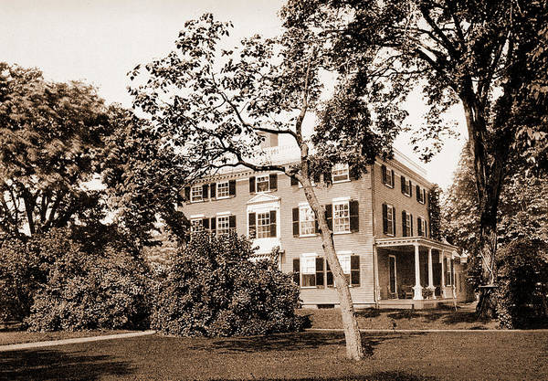 Haunted House Drawing - The Lowell House, Cambridge, Lowell, James Russell by Litz Collection