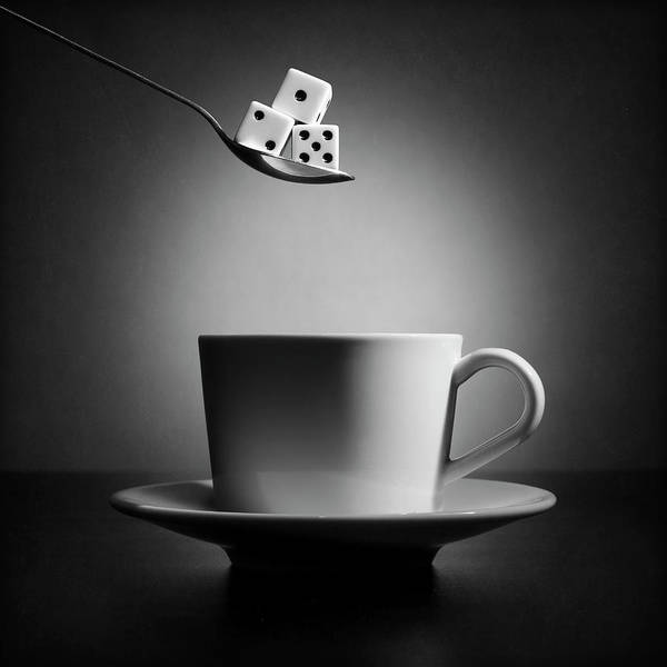 Numbers Photograph - The Lucky Cup Of Coffee (version 2) by Victoria Ivanova