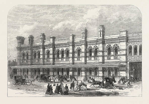Railroad Station Drawing - The Ludgate-hill Station Of The London, Chatham by English School