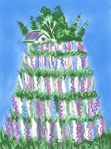 Painting - The Lupine Cake by Jean Pacheco Ravinski