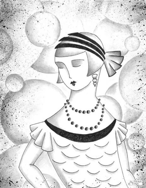 Wall Art - Drawing - The Lustrous Lady by Adam Zebediah Joseph