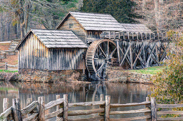 Photograph - The Mabry Mill - Blue Ridge Parkway - Virginia by Gregory Ballos