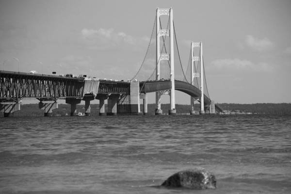 St Ignace Wall Art - Photograph - The Mackinac Bridge by Dan Sproul