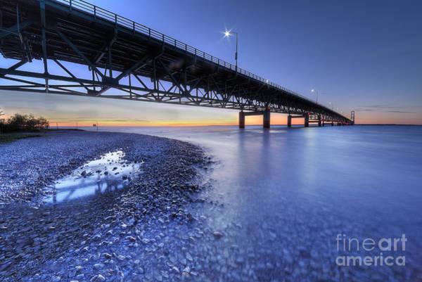 Upper Peninsula Wall Art - Photograph - The Mackinac Bridge by Twenty Two North Photography