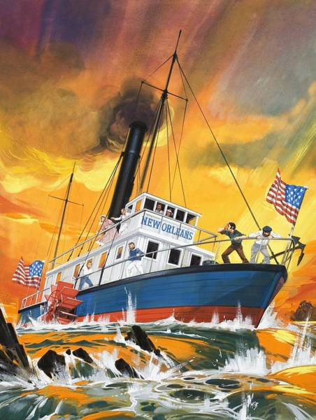Mississippi River Wall Art - Painting - The 'madmen' Of The Mississippi by English School