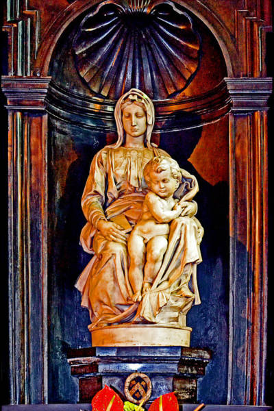 Gleeson Photograph - The Madonna With Child By Michelangelo. by Andy Za