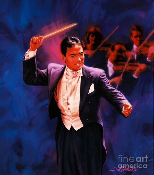Wall Art - Painting - The Maestro by Dick Bobnick
