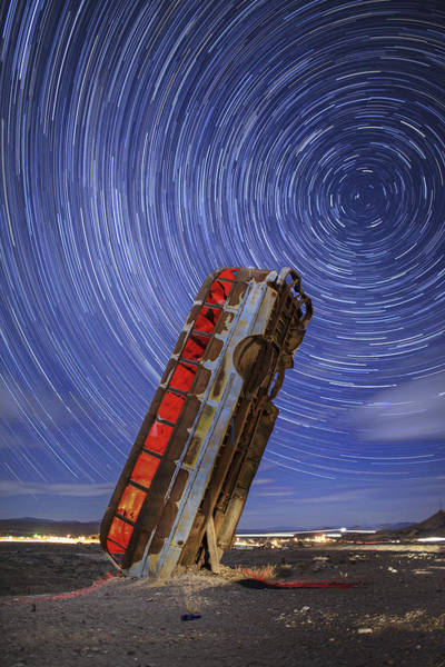 Star Trails Photograph - The Magic Bus by Rick Berk