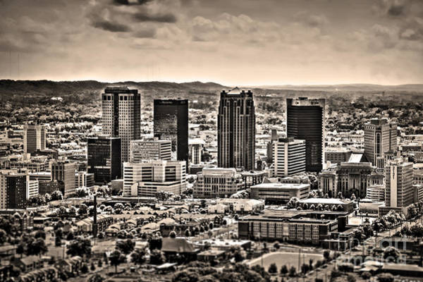 The Magic City Sepia Art Print