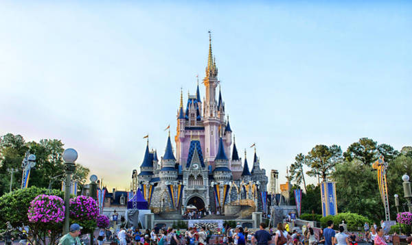 Wdw Photograph - The Magic Kingdom Castle On A Beautiful Summer Day Horizontal by Thomas Woolworth