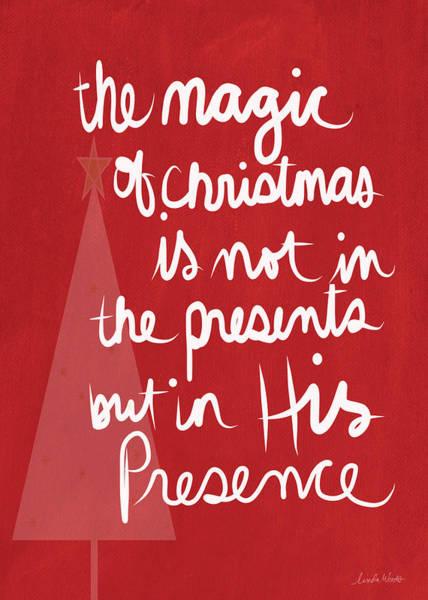 Wall Art - Mixed Media - The Magic Of Christmas- Greeting Card by Linda Woods