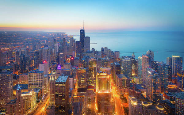 Horizons Photograph - The Magnificent Mile by Michael Zheng