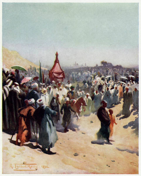 Litter Drawing - The Mahmal - The Khedive's  Sacred by Mary Evans Picture Library
