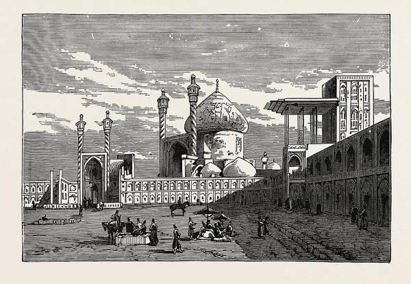 Wall Art - Drawing - The Maidan Shah, Or Royal Square by English School