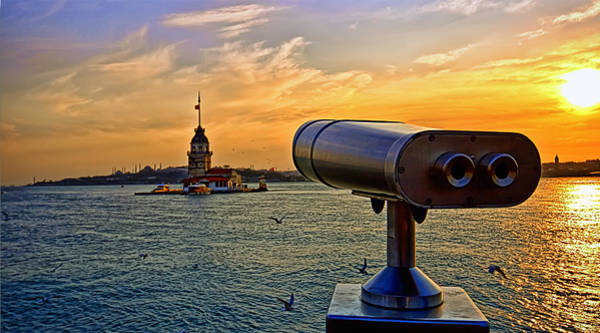 Turkiye Wall Art - Photograph - The Maiden Tower At Istanbul by Leyla Ismet