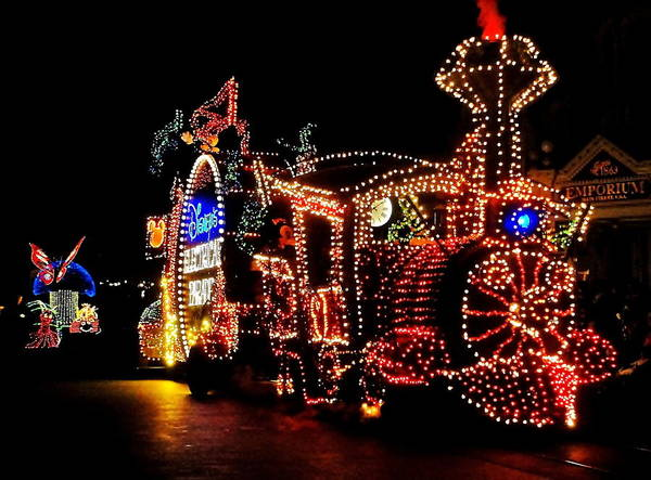 Mickey Mouse Photograph - The Main Street Electrical Parade by Benjamin Yeager