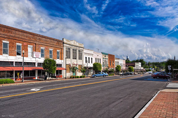 Photograph - The Main Street - Montezuma Georgia by Mark E Tisdale