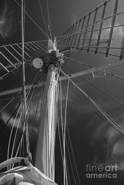 Photograph - The Mainmast Of The Amazing Grace In Infrared by Jani Freimann