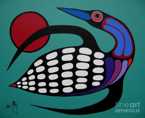 Fowl Wall Art - Painting - The Majestic Loon by Jim Oskineegish