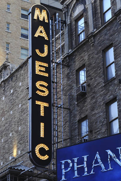 Photograph - The Majestic Theatre Nyc by Terry DeLuco