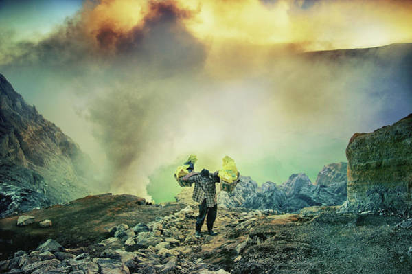 Heavy Photograph - The Man From Green Crater by Ismail Raja Sulbar