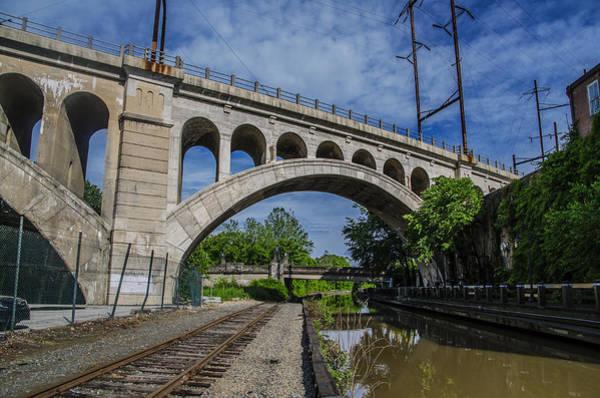 Philadelphia Phillies Digital Art - The Manayunk Canal And Bridge - Philadelphia by Bill Cannon