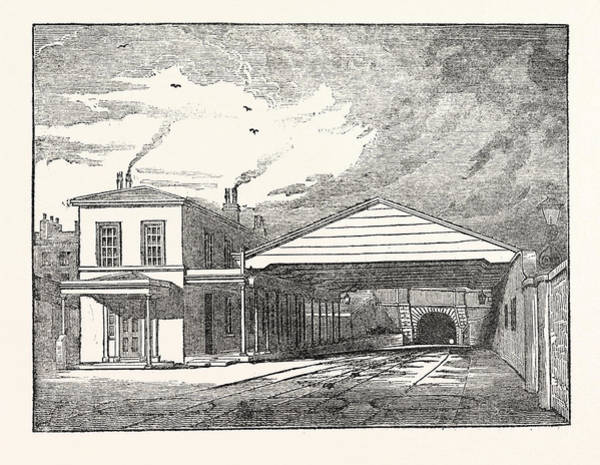 Manchester Drawing - The Manchester And Liverpool Railway Entrance Of The Tunnel by English School