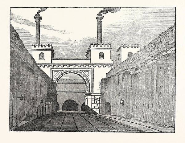Manchester Drawing - The Manchester And Liverpool Railway Moorish Arch by English School